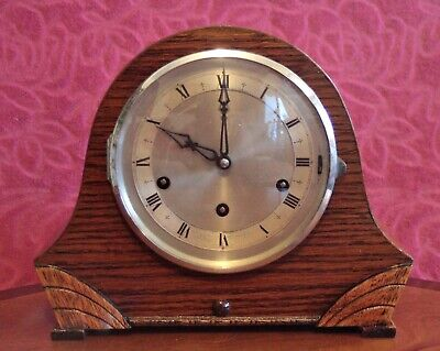 Vintage British with 'Gufa' Movement 8-Day Mantel Clock with Westminster Chimes