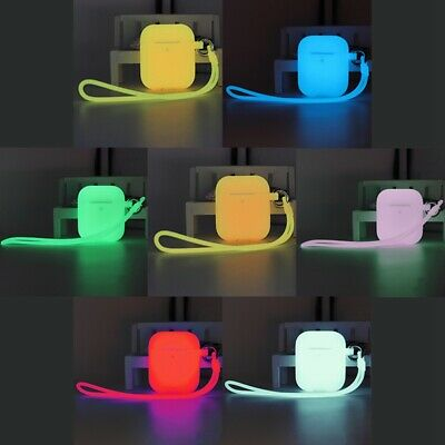 Glow in the Dark Silicone Cover For Apple Airpods Protector Case Earphone UK Wzt