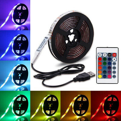 Ruban RGB Multicolores Lampe LED 5050 USB Imperméable Flexible Rétroéclairage TV