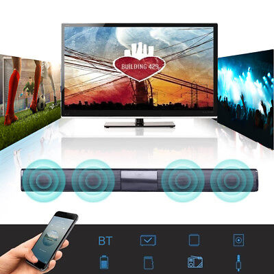 HOT Wireless Bluetooth TV Soundbar 2/4 Speakers Sound Bar Theater Subwoofer RCA