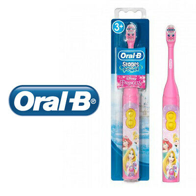 Oral-B Kids Stages Power Electric Toothbrush Princess Battery Powered With Timer