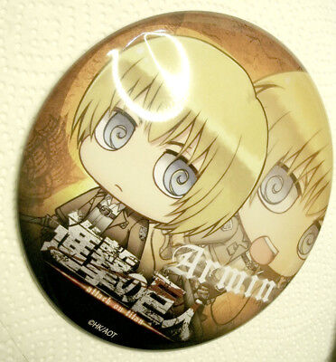 Armin BIG button Attack on Titan AOT Shingeki no Kyojin bandai Kodansha Japanimp