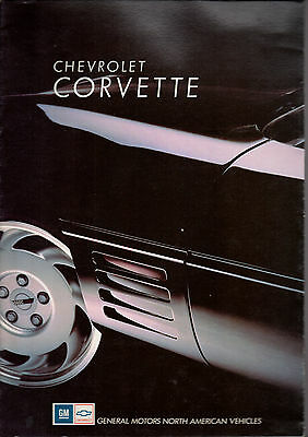 Catalogue brochure CHEVROLET CORVETTE 1991 allemand et francais