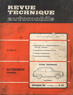 RTA revue technique automobile  n° 257 AUTOBIANCHI PRIMULA 1967