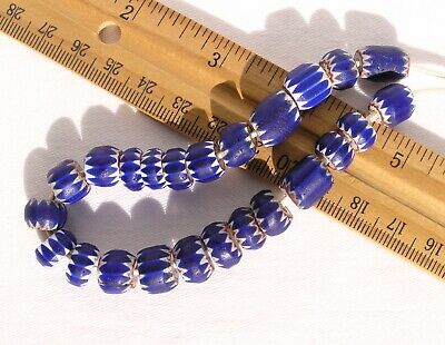 Antique Four Layer Chevron Beads (24) African Trade Venetian Glass
