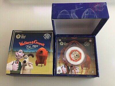 Royal Mint Wallace and Gromit 2019 UK 50p Silver Proof Coin Limited Edition