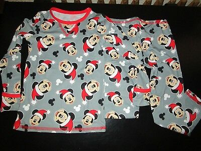 MICKEY MOUSE CHRISTMAS CUDDL DUDS BOYS 2 PC LS CREW /& PANTS SIZE 2T//3T NWT