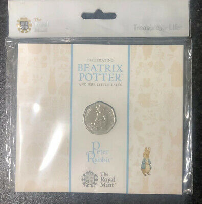 2018 Peter Rabbit BUNC 50p Fifty Pence Coin Sealed Pack