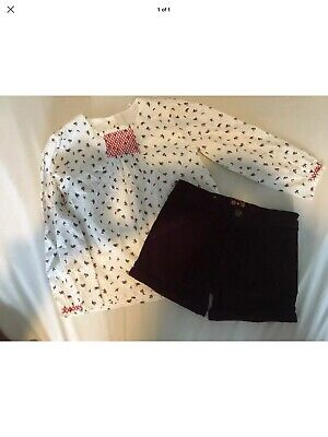 BN Girls Mothercare Shorts And Top outfit 5-6 Years. Perfect For Christmas