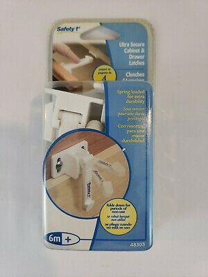 Safety 1st Ultra Secure Cabinet & Drawer Latches 4-pack New Sealed Free Shipping