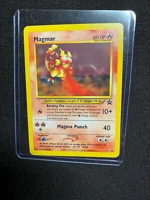Carta Pokemon Magmar N44 Wizards Black Star Promo Mint! Real Photo !