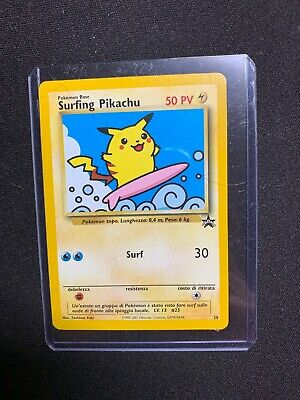 Carta Pokemon Surfing Pikachu N28 Wizards Black Star Promo Mint! Real Photo !