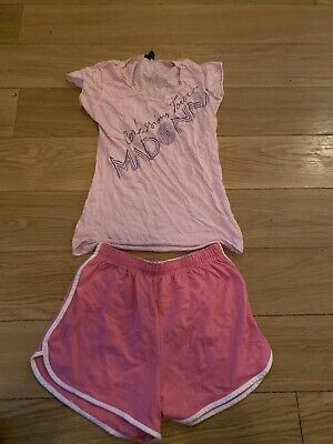 Madonna Confessions tour Pink Top And Shorts Vintage XL