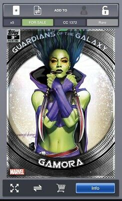 Topps Marvel Collect GUARDIANS OF THE GALAXY 3rd Printing Gamora