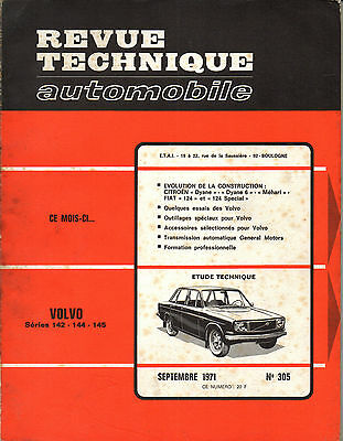 RTA revue technique automobile  n° 305 VOLVO 142 144 145 1971