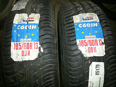 Paire de pneu KLEBER C601H 185 / 60 / R 13 80H golf polo mini super 5 bmw e30