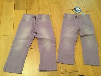Girls two pairs of Trousers, age 12-18 months, 18-24 months 92cm new with tags.l