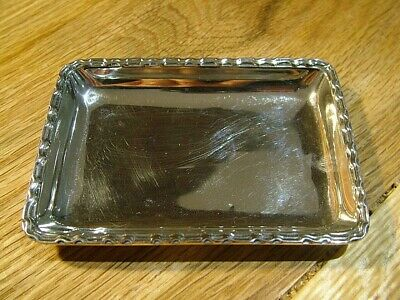 Good Quality Hm1929 Antique Solid English Sterling Silver Pin Tray Trinket Dish
