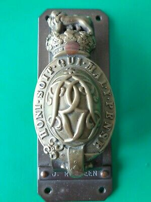 Ww1 Trench Art The Kings Life Guards Regimental Cypher Door Knocker