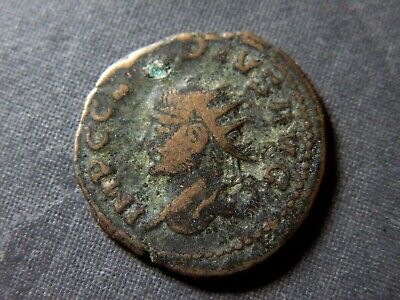 Ancient Roman Coin Claudius Caesar 41-54 AD Antique Bronze Musical Harp Lot Old