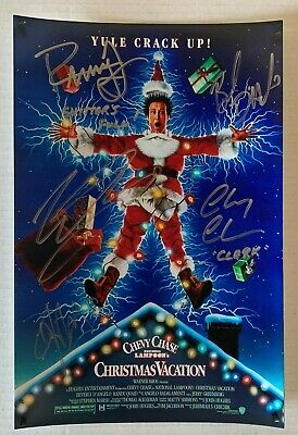 National Lampoons Christmas Vacation cast signed autographed photo Chevy Chase