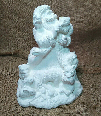 Northwoods Santa Wee Crafts Christmas Plaster Ready to Paint Kit