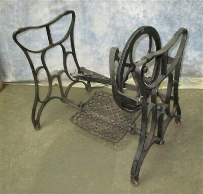 Treadle Sewing Machine Cast Iron Base Industrial Age Table Singer Steampunk Hj