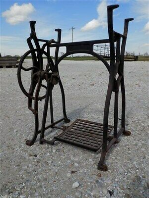 Treadle Sewing Machine Cast Iron Base Industrial Age Table Singer Steampunk nd