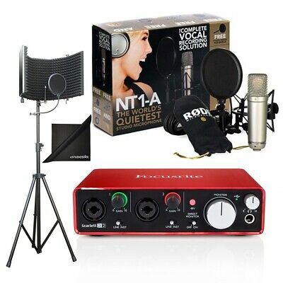 Rode NT1-A Studio Pk w/Focusrite Scarlett 2i2 USB Audio Interface(2G) Bundle