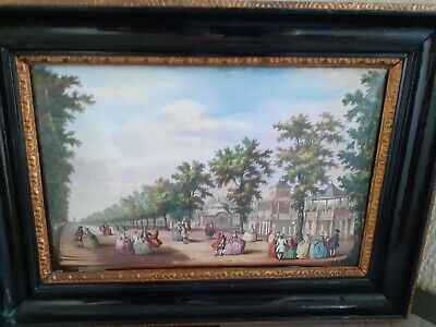 A late 19th century French Enamel Plaque  after Antonio Canaletto