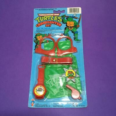 Rare Teenage Mutant Hero Ninja Turtles Kids Carded Crime Fighter Toy Set 1980s
