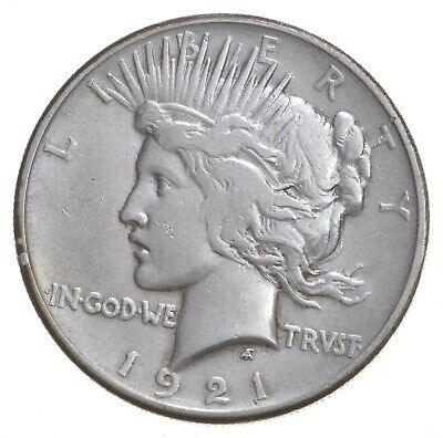 1921 Peace Silver Dollar - Key Date - 1st Year Issue - 90% $1.00