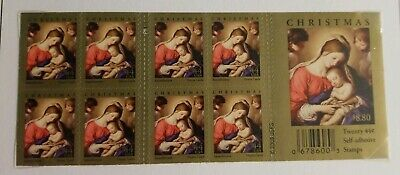 US 4424a Christmas Madonna & Child 44c booklet 20 MNH 2009