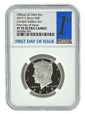 2019 S Limited Edition Silver Proof Kennedy Half NGC PF70 UC - First Day Issue