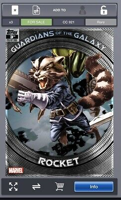 Topps Marvel Collect GUARDIANS OF THE GALAXY 3rd Printing Rocket