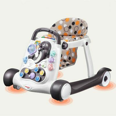 Baby Walker Anti-rollover with Music Baby 6-18 Months Hand Push Can Sit Walker