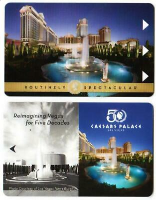 CAESARS PALACE CASINO *las vegas hotel key card PAIR of 2 Fast Safe Shipping # 7