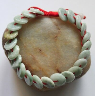 100% Natural Jadeite Chinese Jade (Grade A) Beautiful Light Green Bracelet #545