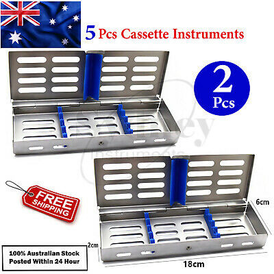 X2 Surgical Dental Sterilization Cassette Scaler Silicon Rack Instruments Lab