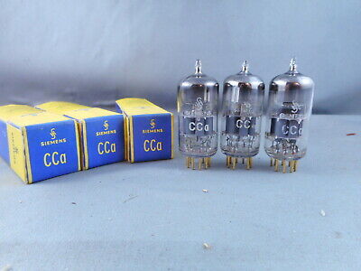 Tubes x 3  Genuine Siemens CCA tubes.  Strong testing   tubes, Gold Pins