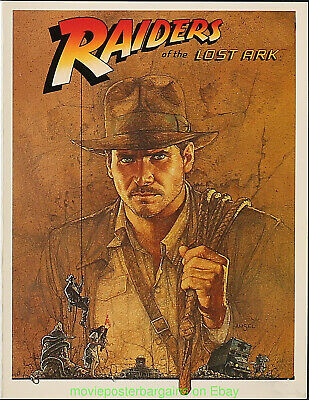RAIDERS OF THE LOST ARK MOVIE POSTER Screening Program 4 Pages V.Fine Condition