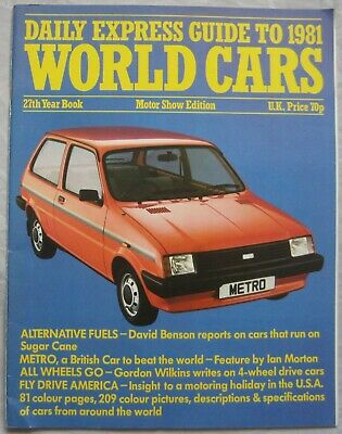1981 Daily Express Motor Guide to world cars
