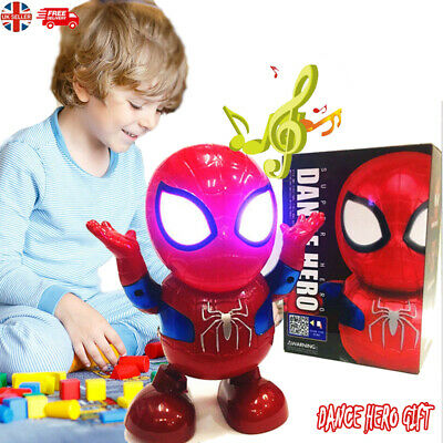 Toys For Boys LED Robot Dance Spiderman 2 3 4 5 6 7 8 9 Year Age Old Xmas gifts