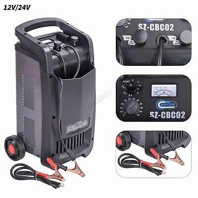 SwitZer Heavy Duty Vehicle Car Battery Charger 12V/24V Jump Starter with Trolley