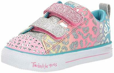 Skechers Kids Girls' Shuffle LITE-Leopard Cutie Sneaker, 5 Medium US Toddler