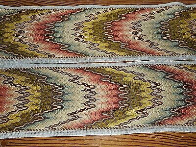 Very long and narrow Bargello stitched panel