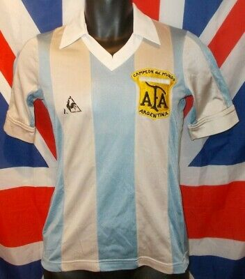 "Original Vintage Argentina World Cup 78 Home Shirt 1978-1980 (34"")"