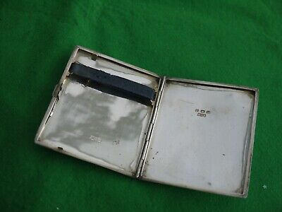 NICE EARLY 1911 ANTIQUE HALLMARKED SOLID STERLING SILVER CIGARETTE CASE 88rgms