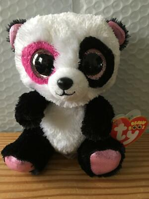 FREE SHIPPING 6 Inch Panda MWMT Yumi Ty Beanie Boos Justice Exclusive
