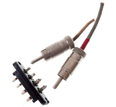 SME 3009 or 3012 Tonearm Phono lead cable Connectors EARLY Pre tri Connector